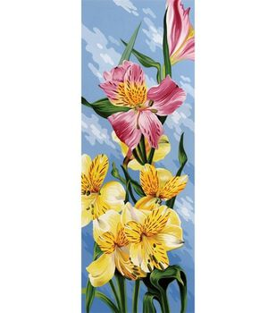 Paint By Number Kit Tall 17-1/4''X6-1/4''-Peruvian Lily