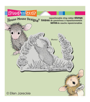 """Stampendous House Mouse Cling Rubber Stamp 3.5""""X4"""" Sheet-Scent Of Lilac"""