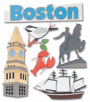 Jolee's Boutique Dimensional Stickers-Boston