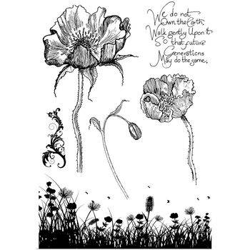 IndigoBlu Cling Mounted Stamp Poppy Meadow