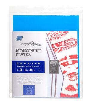 "Impress Monoprint Plates 3/Pkg-8""X10"""