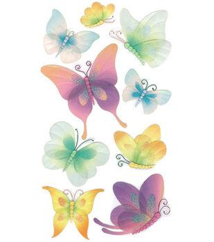 Jolee's Boutique Le Grande Dimensional Sticker-Vellum Butterflies