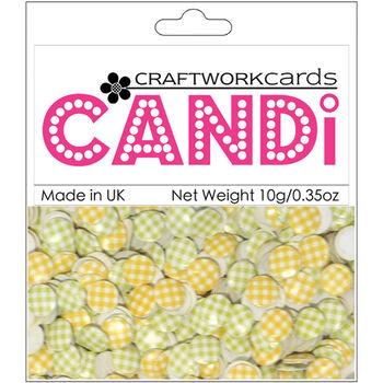 Craftwork Cards Candi Dot Printed Embellishments Strata