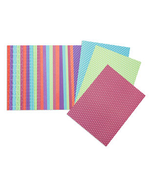 Core'dinations Value Pack of Patterned Cardstock Brights, 25pc/pkg