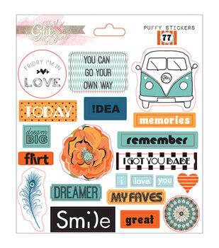 Glitz Design 77 Puffy Word Stickers