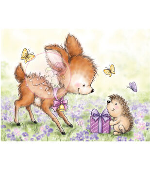 "Wild Rose Studio Ltd. Clear Stamp 3.5""X3"" Sheet-Bluebell W/Hedgehog"