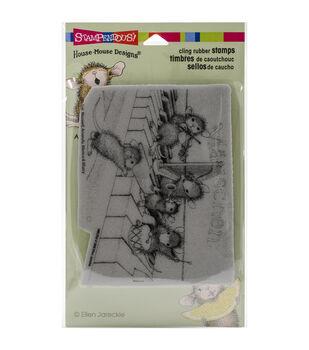 "Stampendous House Mouse Cling Rubber Stamp 4""X6"" Sheet-Musical Mice"