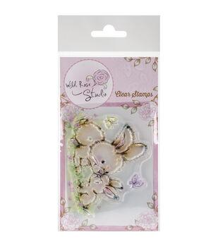 Wild Rose Studio Spring Bunnies Clear Stamp