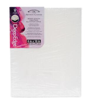 "Winsor & Newton Quality Deep Edge Stretched Canvas-8""X10"""