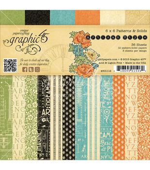Graphic 45 Artisan Style Paper Pad 6''x6''