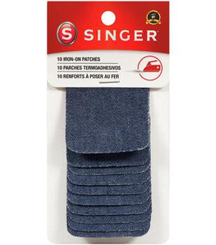 Singer®  Iron-On Patches 2x3'' 10/Pkg-Denim