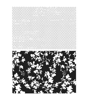 Stampers Anonymous Dots & Floral Cling Rubber Stamp Set
