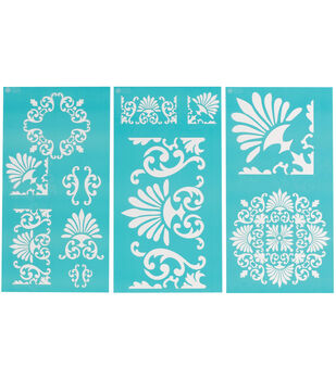 Martha Stewart Large Stencils 3 Sheets/Pk-Tapestry