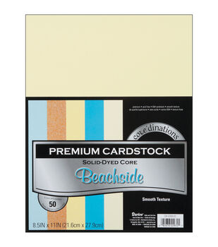 "Cardstock 8.5""X11"" 50/Pkg-Beachside-Smooth"