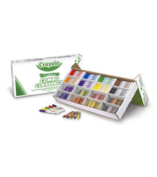 Crayola 256 count Large Crayon and Washable Marker Combo Classpack
