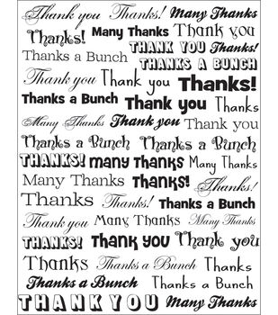 Karen Foster Clearly Stickers-Thank You