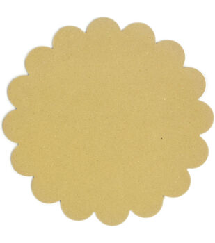 Adorn-It Art Play Round Scallop MDF Shaped Surface 10''