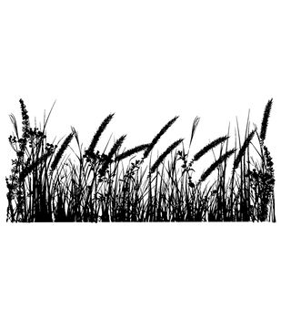 IndigoBlu Cling Mounted Stamp Tall Grasses