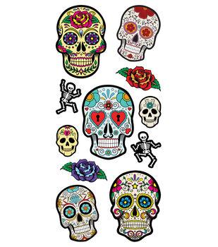Sugar Skulls 3D Puffy Stickers