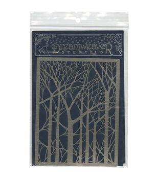 Stampendous Dreamweaver Metal Bare Trees Stencil