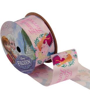 """Frozen Ribbon 1-1/2""""x9'-Family Forever"""