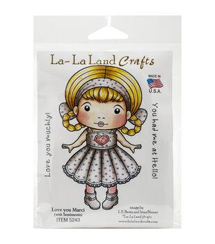 La-La Land Crafts Love You Marci Cling Mount Rubber Stamps