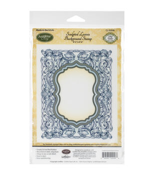 """JustRite Papercraft Cling Background Stamp 4.5""""X5.75""""-Sculpted Leaves"""