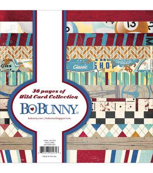"""Bo-Bunny Paper Pad 6""""X6"""" 36/Pkg-Wild Card"""