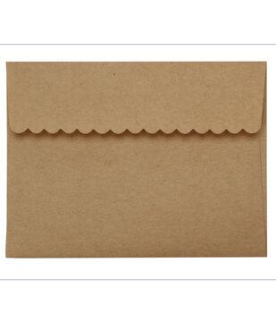 Core'dinations Envelopes:  A2 Kraft Deco Flap; 20 pack
