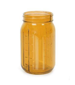 Glass Vintage Look Jar - Orange 12pc