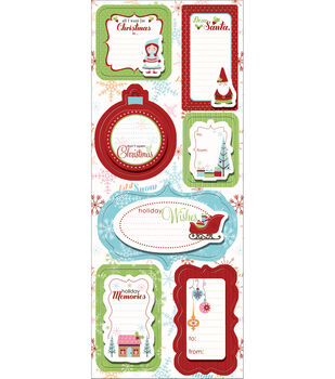 Imaginisce Cottage Christmas Sticker Stackers-Holly Jolly