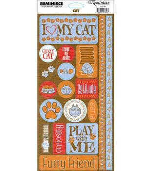 Reminisce Signature Series Phrase Stickers-Cat