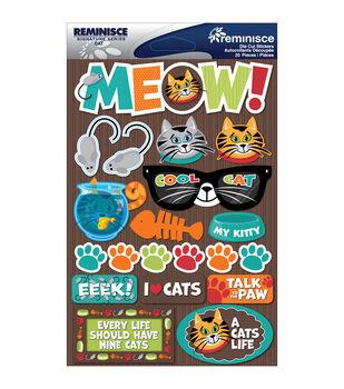 Reminisce Signature Dimensional Stickers Cat