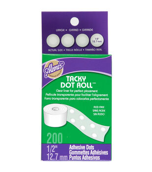 "Aleene's Dry Adhesive Tacky Roll Large Dot .5"" 200/Pkg"