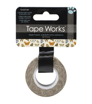 "Tape Works Tape .625""X50ft-Realistic Butterflies"