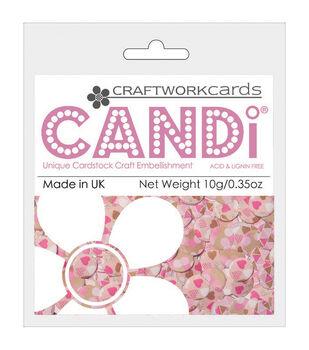 Candi Dot Printed embellishments .35oz-Pretty In Pink