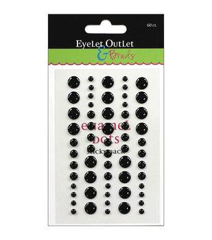 Eyelet Outlet Sticky Back Enamel Dots 60 pcs