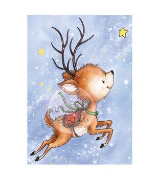"Wild Rose Studio Ltd. Clear Stamp 3.5""X3"" Sheet-Reindeer Flying"