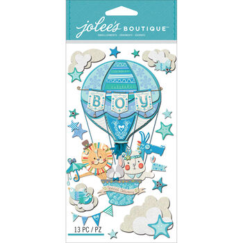 Jolee's Boutique Dimensional Stickers Baby Boy Special Delivery
