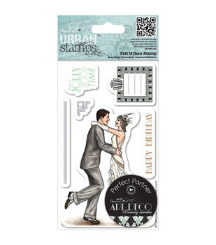 Papermania Art Deco Tall Urban Stamps-Roaring 20s