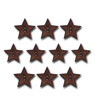 Maya Road Stained Stars Wooden Buttons