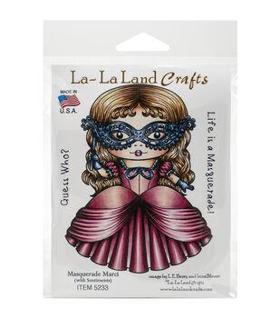 La-La Land Crafts Masquerade Marci Cling Mount Rubber Stamps