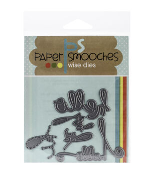 Paper Smooches Die-Hello Words