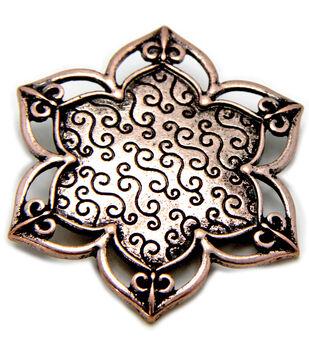 Create Your Style Swarovski Metal Pendant 1/Pkg-Meditation Canvas Copper