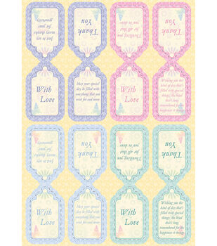 Kanban Crafts Seasons Die-Cut Punch-Out-Spring Thank You Sentiments Pastel
