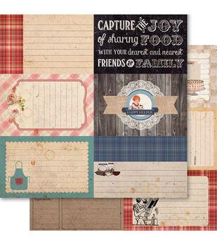 Ruby Rock-It Country Cookin' Thirds Double-Sided Cardstock