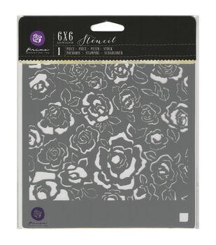 Prima Marketing Fading Floral Designer Stencil