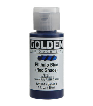 Golden Fluid Acrylic Paint 1oz-Phthalo Blue/Red Shade