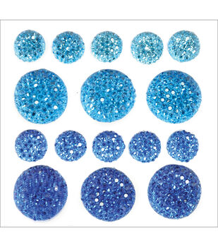 Sparklets Self-Adhesive Rhinestone Clusters-Royal