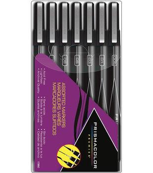 Sanford Prismacolor Marker Set 7Pk-Mixed Tips-Black